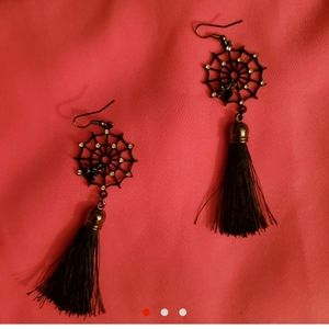 Halloween tassle earrings